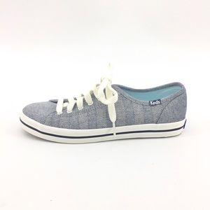 Keds Canvas Sneakers 7 Navy Lace Up Pattern Shoes
